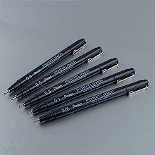 family, pen, poinliner, pentel, art, ink