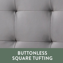 buttonless square tufted headboard