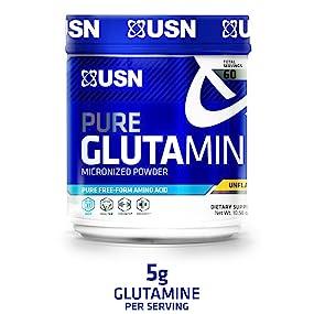 USN Pure Glutamine Micronized Powder