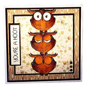 owls card art