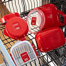 Sistema Microwave Freezer-safe and top-rack dishwasher safe.