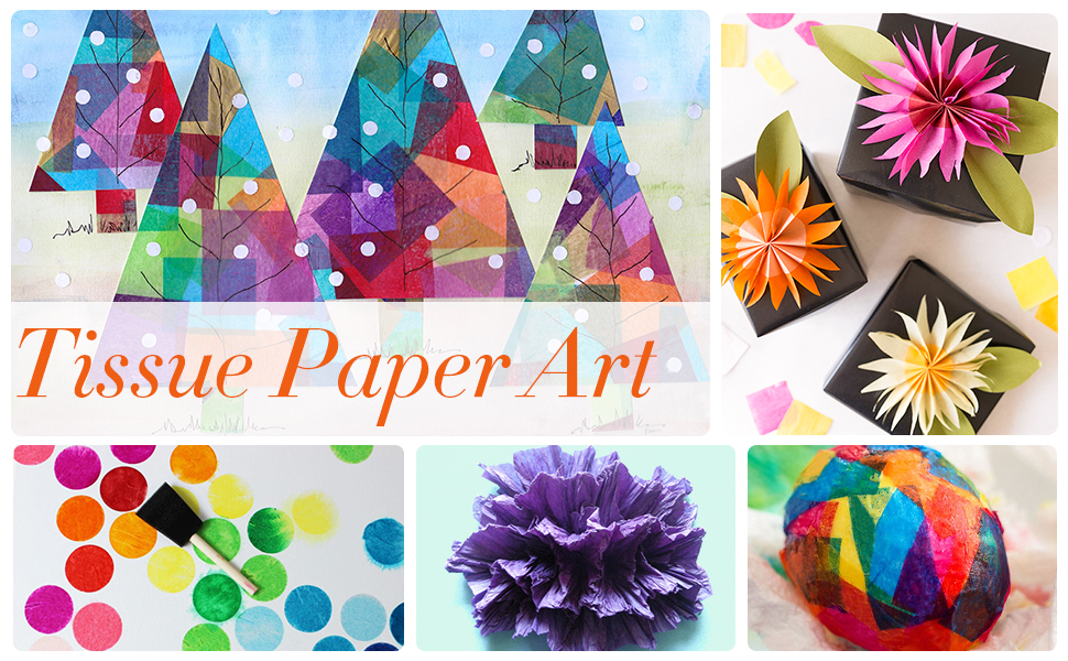 Tissue Paper,Gift Wrapping Paper Crafts,Art Rainbow Tissue Paper Bulk,DIY Crafts Tissue Paper
