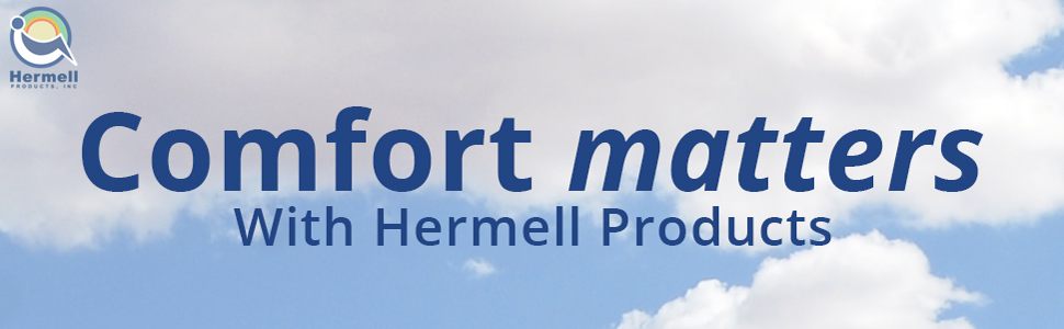Hermell products logo, clouds of comfort