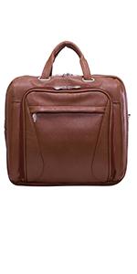 "15"" Leather Double Compartment Laptop Briefcase"