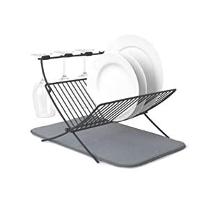 Umbra XDRY Dish Rack and Microfiber Drying Mat