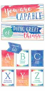 watercolor you are capable of doing great things bulletin board display