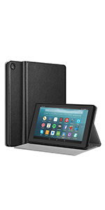 """Kindle fire7 7in case 9th gen 2019 screen protector keyboard leather cover 7"""" inch display stand"""