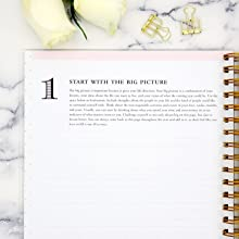 blue sky 2020-21 planners, black stripe collection, day designer step by step planning system,step 1