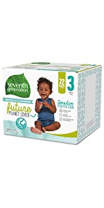 Seventh Generation;Baby Diapers;Pampers;Huggies;size 3 diapers;sensitive skin;baby wipes