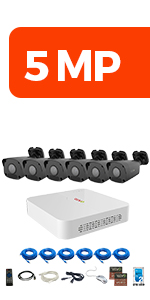 8Ch. 5MP Home Security System