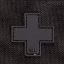 Prominent first aid cross at front