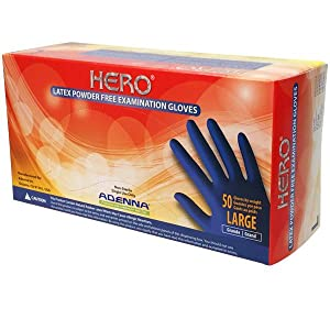 Hero, Adenna, Latex, Disposable Gloves, Long Cuff, Auto, Mechanic, 14mil thick, Safety, Protection