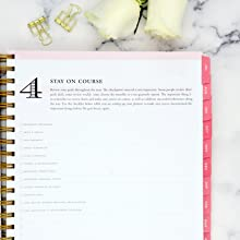 blue sky 2020-21 planners, black stripe collection, day designer step by step planning system,step 4