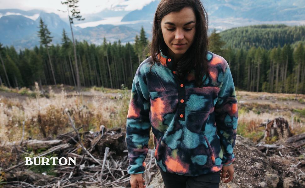 burton womens fleece snap pullover