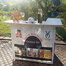custom bar, custom design, portable bar, sampling station, farmers market booth, trade show booth