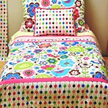Girls 4 pc Toddler Bedding Set