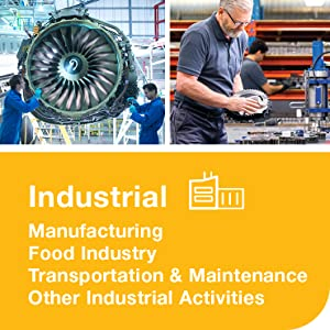 Industrial, manufacturing, food industry, transportation and maintenance