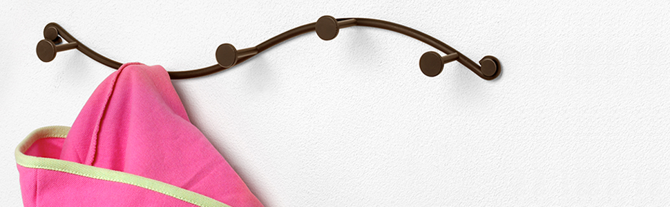 sweep wall mount 5 hook rack