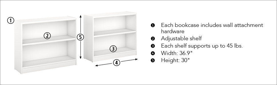 bush furniture,white,bookshelf,storage,storage shelves,book storage,book shelf,book shelves,shelf