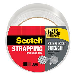 Scotch Reinforced Strength Strapping Packaging Tape, super strong holding power