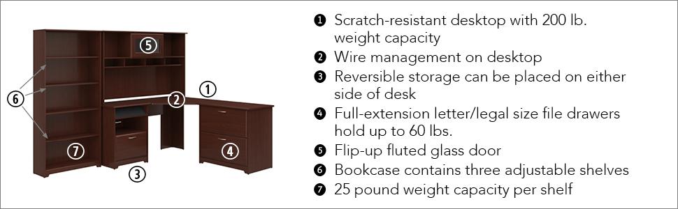 Bush Furniture,corner desk,corner desks,office desk,office desks,home office desk,home office desks