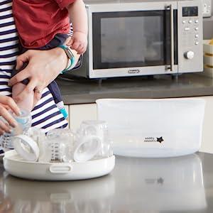 baby bottle sterilizer steamer sterilizer bottle sanitizer baby bottle washer universal portable