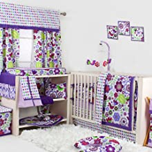 10 pc crib set with bumper pad