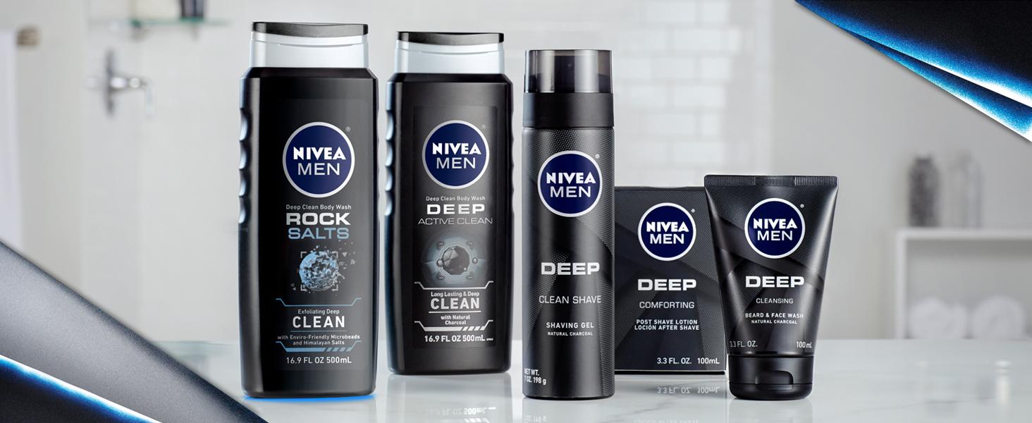 Nivea men rock salts body wash