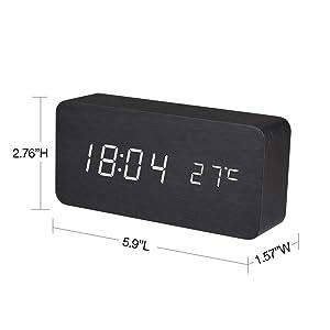 Digital Wooden Alarm Clock