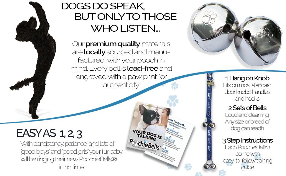 potty training, poochiebells, bells, training, dog training