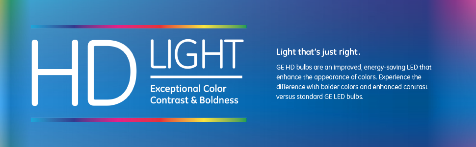 Experience a High Definition Difference - Each bulb in our HD LED series enhances different colors