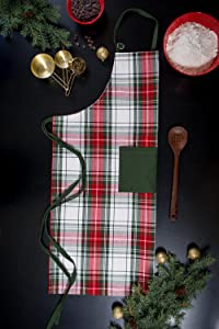 holiday apron;christmas apron;plaid apron;apron for men;women apron;funny apron