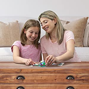 mother and daughter with bic geo fun kit