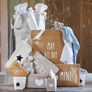nursery;decor;laundry basket'hamper;storage;organization;ideas;solutions;shower gifts for;boys;girls