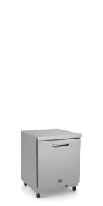 "Stainless Steel Undercounter Commercial Refrigerator, 6 cu.ft, 27"" with 1 Door"