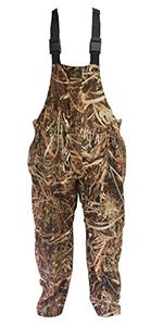 waterproof bibs, hunting bibs, hunting overalls, camo overalls