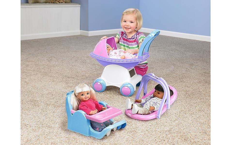 playset, baby doll,high chair, cradles,changing station, feeding chair, el cuarto de los ninos