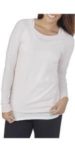 Long sleeve, scoop neck, tee, essentials, ladies, comfy