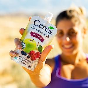 Ceres Organic Apple Berry Smoothie Vegan Healthy