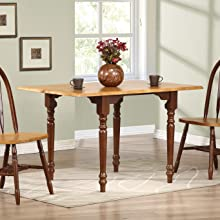 small table,square dining table,drop leaf,medium brown table,walnut,traditional