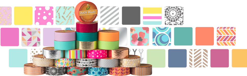 duck tape washi tape colors patterns variety