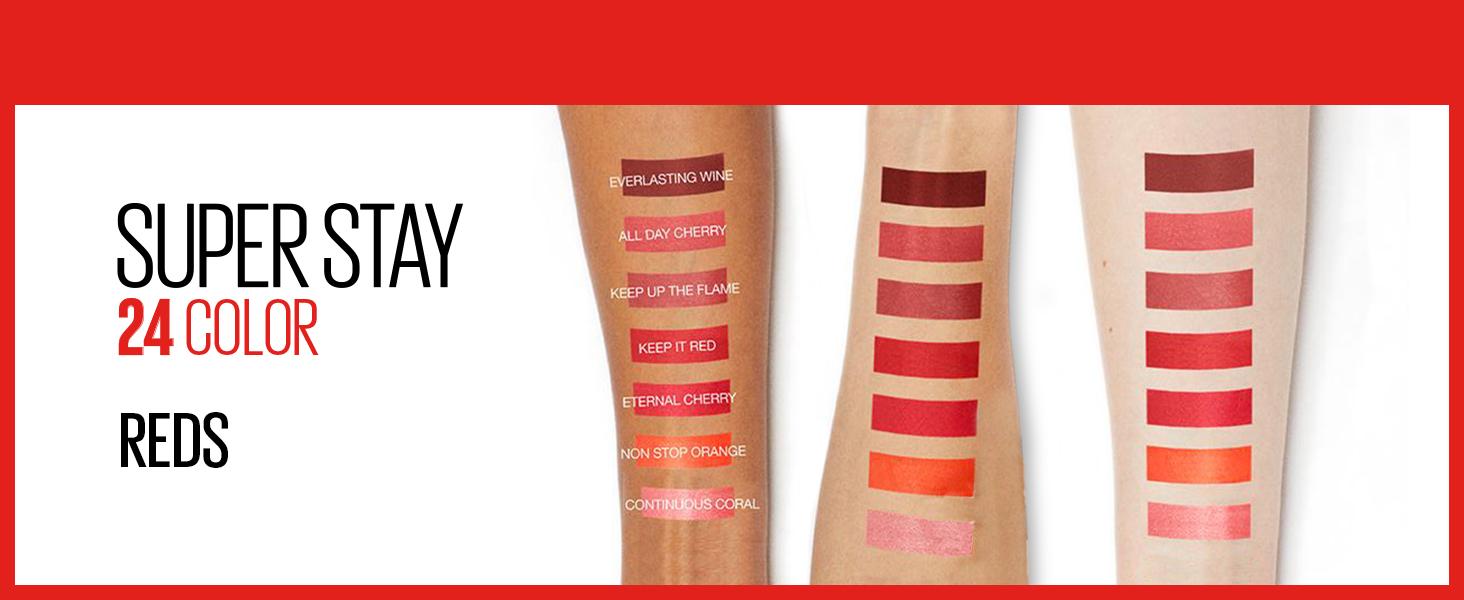 red lipstiick, longwear lip color, long lasting lipstick, pink lipstick, nude lipstick, purple