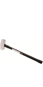 Groz 34560 Soft Face 6lb Sledge Hammer with Indestructible 30-Inch Handle, Soft 30 HRC Head
