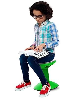 storex green wiggle stool student