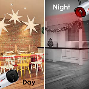 home camera security system with night vision