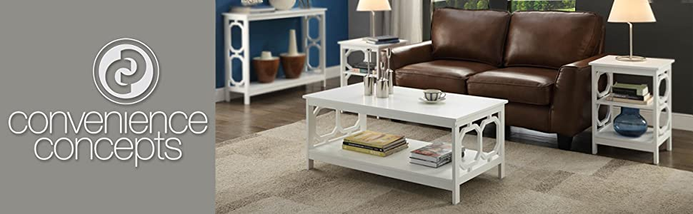 coffee side console table modern living family room white