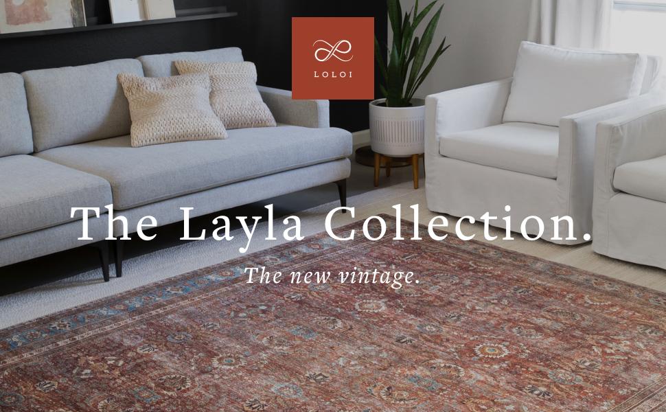Layla printed rug