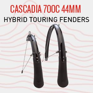 bike fender, cascadia fender, front and rear fenders, mudguard, rainguard, rain protection