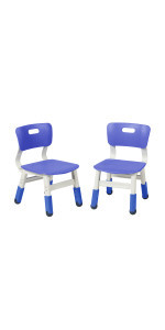 Resin Adjustable Chair 2-Pack Blue