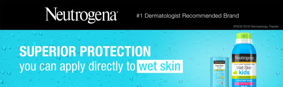 Neutrogena Wet Skin Kids Sunscreen Spray and Stick can be applied directly to wet skin